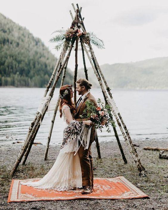 Boho wedding inspiration @Sheer Ever After