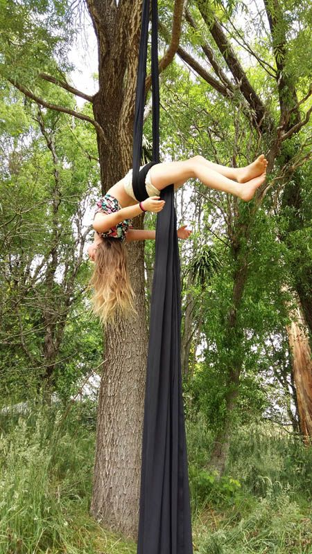 aerial yoga at Convergence Festival 2017