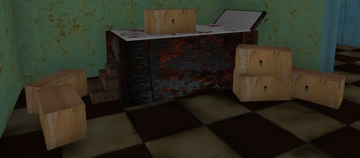 3D Model Of Bloodied Hospital Table Bed - 3D Model