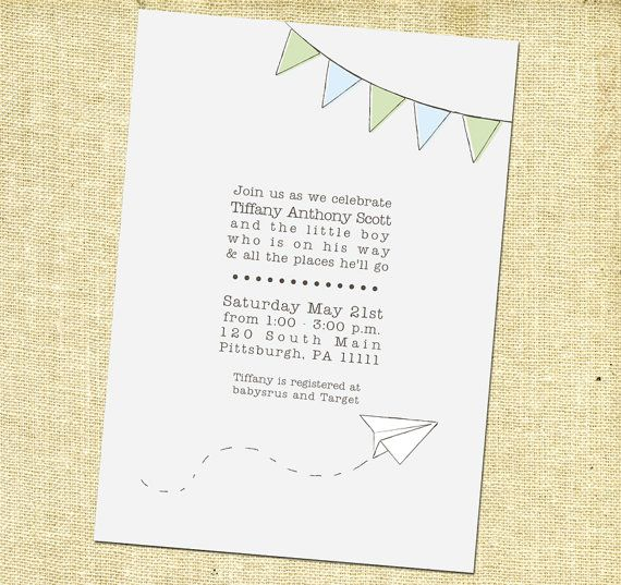 Items Similar To Airplane Birthday Invitation: 46 Best Images About Paper Airplane Party On Pinterest