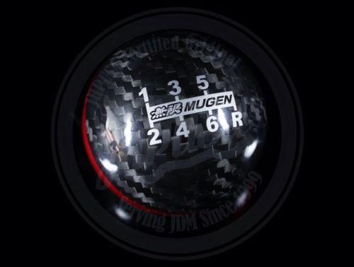 mugen carbon fibre 6 speed gear shift knob black red. Black Bedroom Furniture Sets. Home Design Ideas