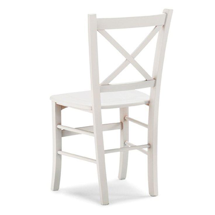 € 49,50 #sconto 50% #sedia in #legno massello di #faggio TETI colore laccato #bianco. #Stile #rustico #country #provenzale #shabby. In #offerta su #chairsoutlet factory #store #arredamento. 100% #MadeinItaly. Comprala adesso su www.chairsoutlet.com