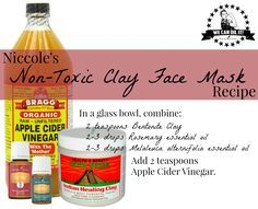 Non-Toxic Bentonite Clay Face Mask Recipe with Young Living Rosemary and Tea Tree essential oils - by Niccole Perez