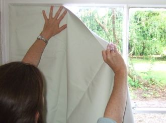Ordinary blackout blinds and curtains leave gaps that let in light. To block all outside light use the EasyBlinds blackout kit.