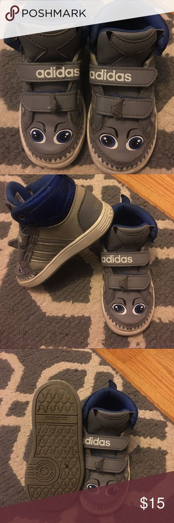 Adidas Neo High Top Shark Sneakers 7c Adidas High Top Neo Shark Sneakers/size 7c/some signs of wear but it overall good condition for boys' used Sneakers 👟 Adidas Shoes Sneakers