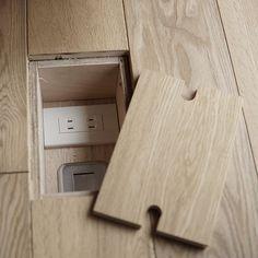 Hidden floor outlets