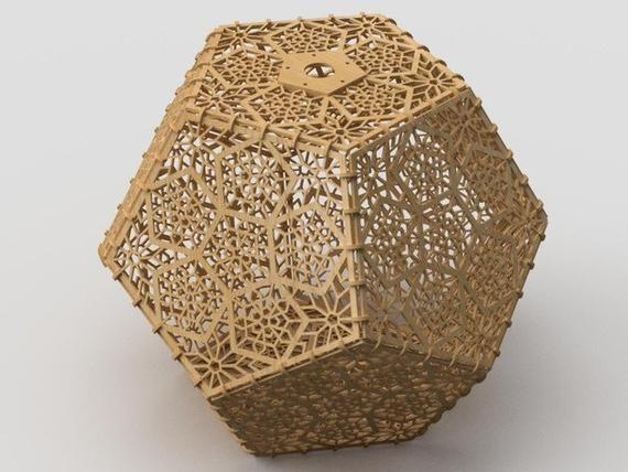 Lamp Digital design design for laser CNC and CNC milling. | Etsy