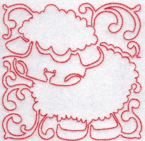 Machine Embroidery Design Redwork Blackwork Animals