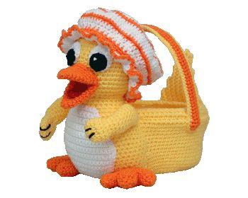 7340 Dragon Easter Basket Crochet Amigurumi Pattern