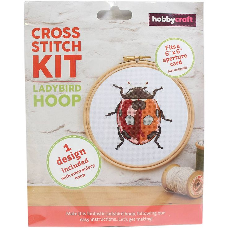 Ladybird Cross Stitch Hoop Kit | Hobbycraft