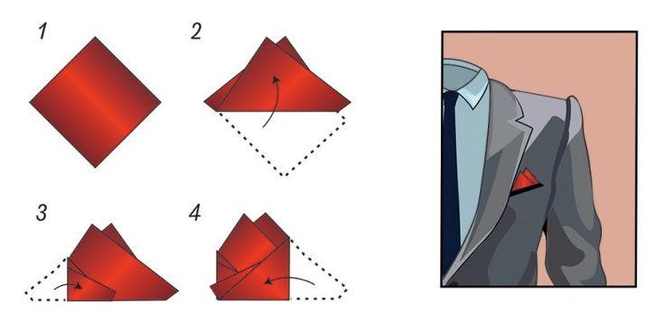 Doppelspitzen Faltung| Einstecktuch falten