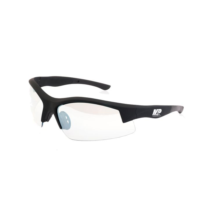 M&P Super Cobra Shooting Glasses - Black Frame, Clear Mirrored Lens