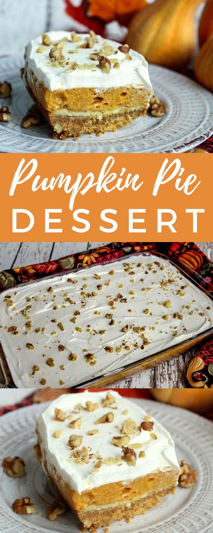 This pumpkin dessert should be called layers of pumpkin pie happiness! #pumpkinpie #pumpkindessert #pumpkinrecipe