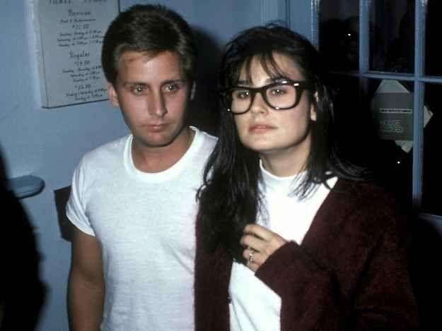 Emilio Estevez and Demi Moore