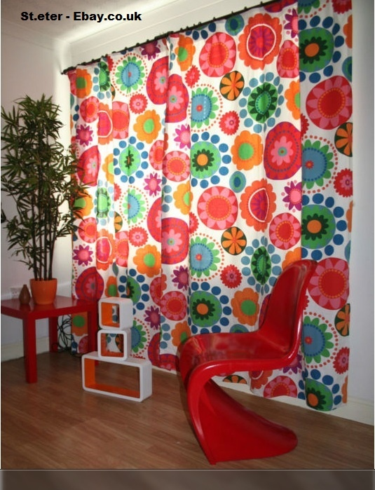 Curtains made from ikea fabric ebay crafting space for Space made of fabric
