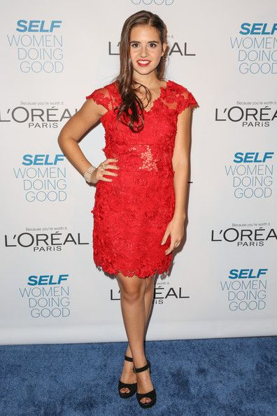 Carly Rose Sonenclar looked ravishing in her red Jovani at the Self magazine Women Doing Good Awards