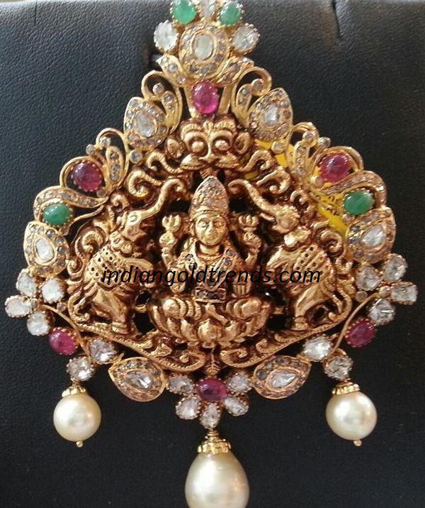 Antique Lakshmi pendant Designs | Ornamental | Pinterest ...