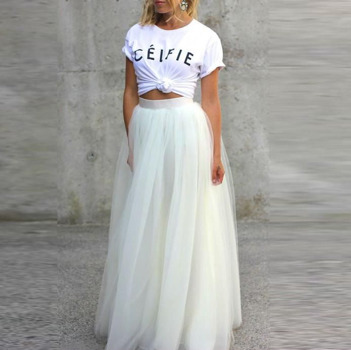 25  best ideas about Long white skirts on Pinterest | Printed maxi ...