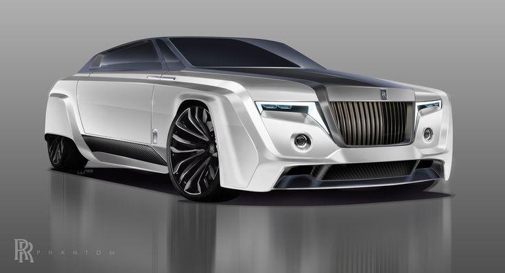 2050 Rolls-Royce Phantom Final Render. Adobe Photoshop CC and Wacom Bamboo drawing tablet.