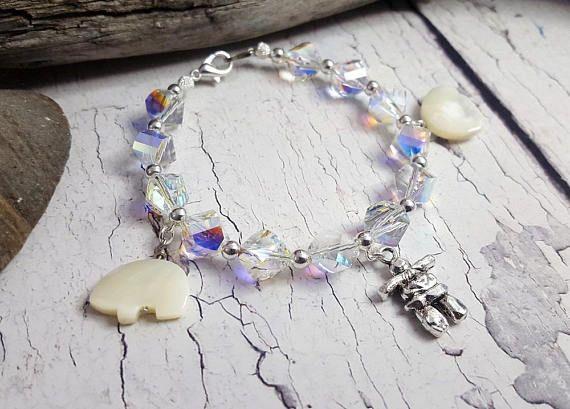 Winter Bracelet Northern Lights Polar Bears & Eskimo
