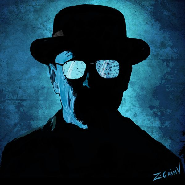 Portrait of Mr Heisenberg - Breaking Bad Art Print