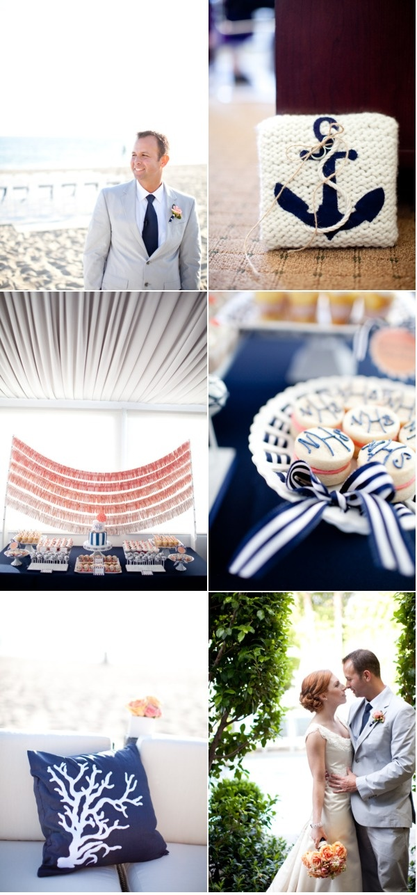 Amazing Details, especially the dessert table | Malibu Wedding by Shannon Lee Images | Style Me Pretty