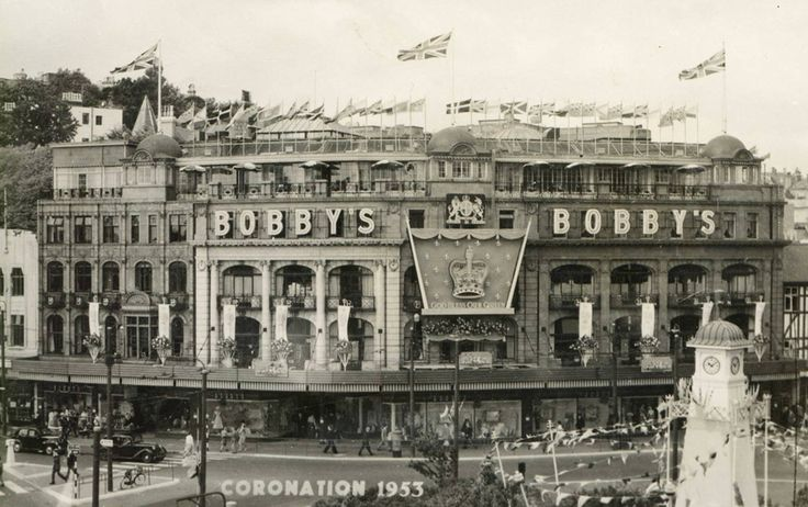 Bobbys Department Store in Bournemouth Square in 1953 (now Debenhams)