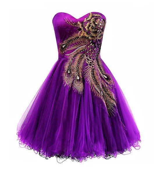 peacock dresses | ... metallic peacock corset tutu short prom purple homecoming dresses