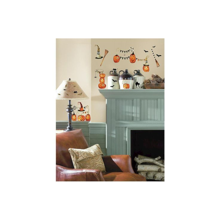 RoomMates Halloween Pumpkins Peel and Stick Wall Decals,