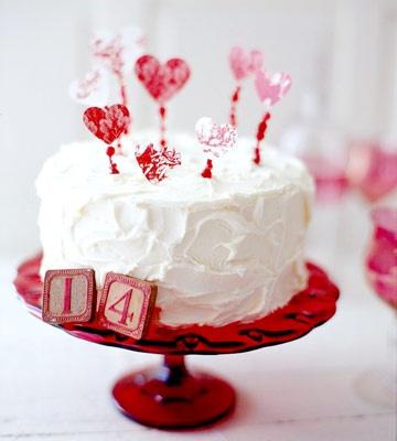 Valentines Cake - I love the 14 blocks.