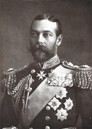 George V - 1865-1936 - King of the United Kingdom & the British Dominions, & Emperor of India, from 6 May 1910 through the 1st World War (1914–1918) until his death in 1936. George was a grandson of Queen Victoria & Prince Albert & the 1st cousin of Tsar Nicholas II of Russia & Kaiser Wilhelm II of Germany. He married his second cousin once removed, Princess Victoria Mary of Teck. on 6 July 1893 at the Chapel Royal in St. James's Palace, London. They remained devoted to each other to death.