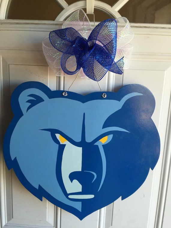 MEMPHIS GRIZZLIES, Memphis Grizzlies WOOD DOOR HANGER, Grizzlies door decorations, Show your team spirit with this wood door hanger.  Wood measures