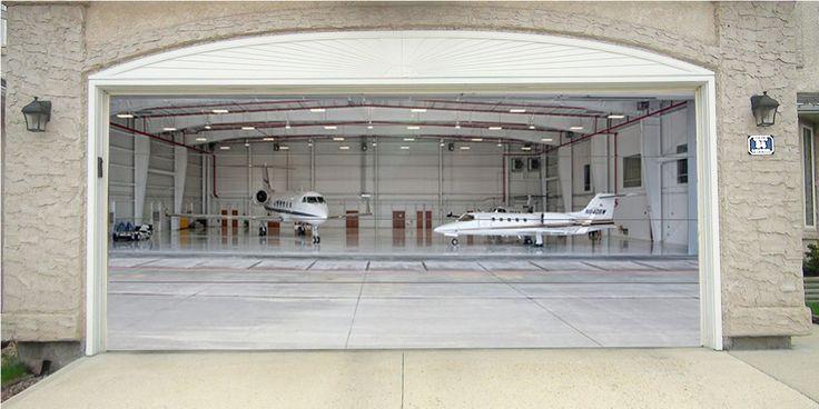Hangar with Private Jet - DressMyGarage.com