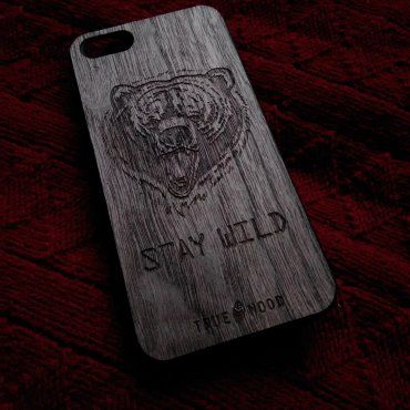 "iPhone 5S case ""Stay Wild""  #woodenaccessories #iphonecase #iphone #woodencase #чехолдляiphone"