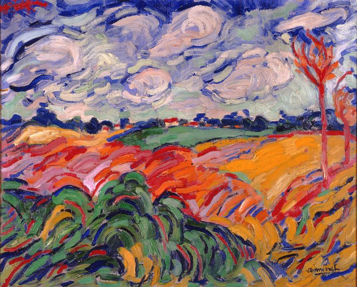 Maurice de Vlaminck (French, 1876–1958)  The Wheat Field (Champs de Ble), ca. 1906  Oil on canvas  25 1/2 x 32 3/16 in. (64.77 x 81.76 cm)  Gift of Mrs. Harry Lynde Bradle