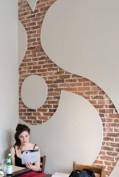 Coffee Shop Design | Retail Design | This just takes my breath away. Stunning brick reveal. Sucre Sale | bham design studio