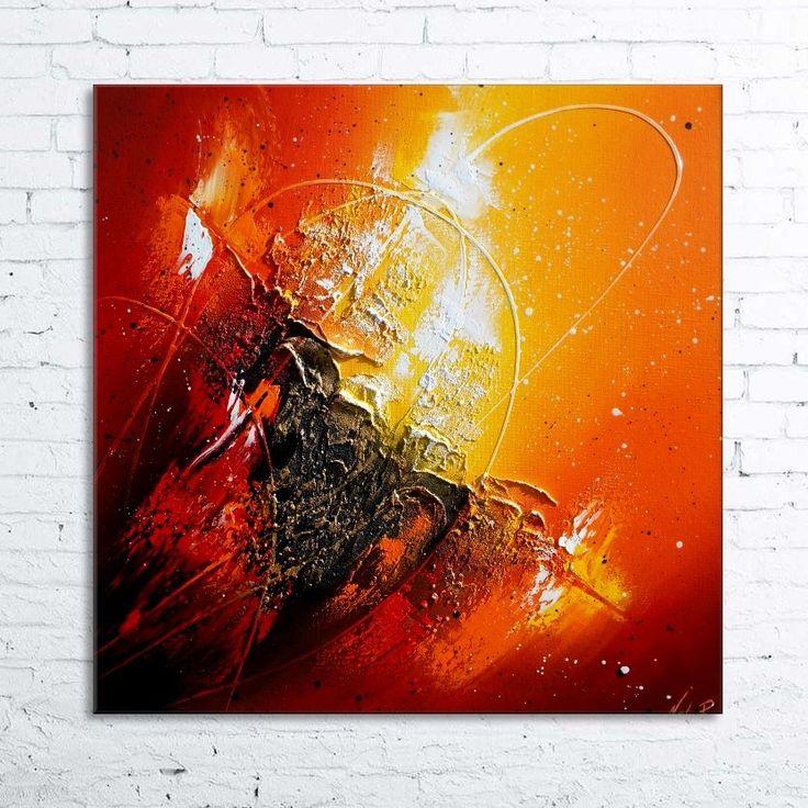 Peinture moderne à lhuile ORIONIS Tableau abstrait