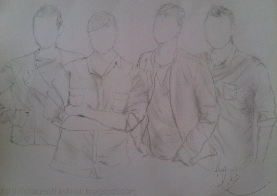 Shade of Fashiion - #westlife #boyband #art #sketches #drawing
