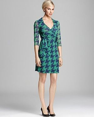 Quotation: Sweet Pea Wrap Dress - Houndstooth   Bloomingdale's