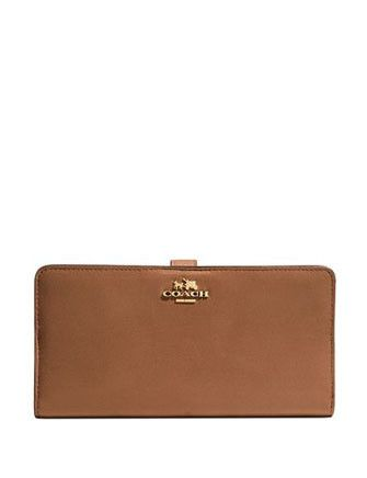 Coach Madison Skinny Continental Wallet in Leather