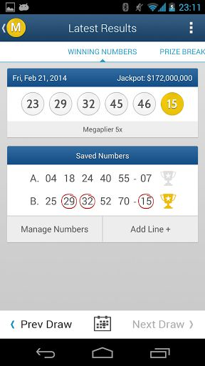 ~ Mega Millions US Lottery Numbers & Statistics direct to your mobile ~Need to check your Mega Millions lotto ticket quickly? Will you win the Mega Million jackpot this time?Mega Millions Results has the latest results, numbers & statistics and prize payout information. Main Features:- Save your numbers for fast checking when the latest results are available. - Latest and Past Draw Results including prize breakdown / payout info with the number of winners. - Notifications -...
