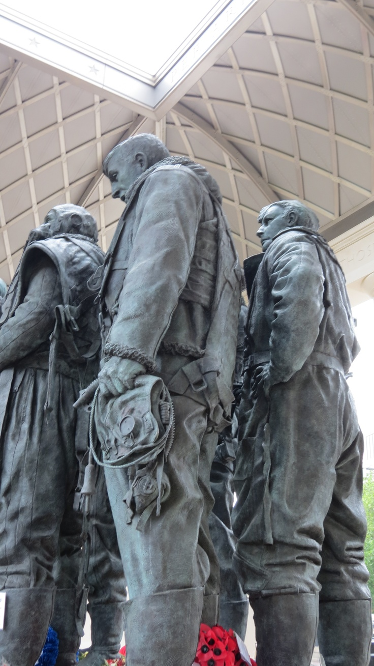 The Bomber Command Memorial, unveiled June 2012, commemorates 55,573 who died serving in Bomber Command during WWII. Located in Green Park along Piccadilly (closest tube, Hyde Park Corner). The Bomber Command Memorial was designed by architect Liam O'Connor & built using Portland stone. Within the memorial are the bronze sculptures of a Bomber Command aircrew.