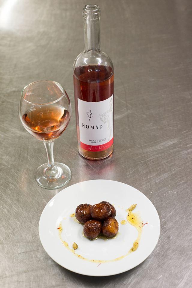 Indian food. Aurelia Visinescu Wines. Rose. Nomad.