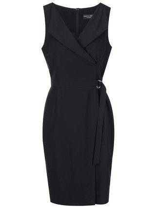 Dorothy Perkins - Černé pouzdrové šaty s výstřihem - 1
