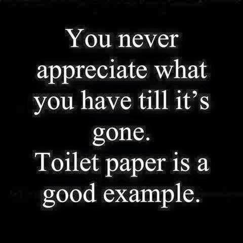 Love, life, toilet paper... True joy