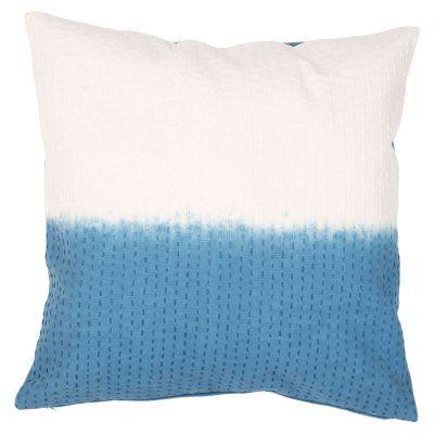 Jaipur Tribal Cotton Modern Decorative Pillow Blue Sapphire / Birch Polyester Fill - PLC101253_P