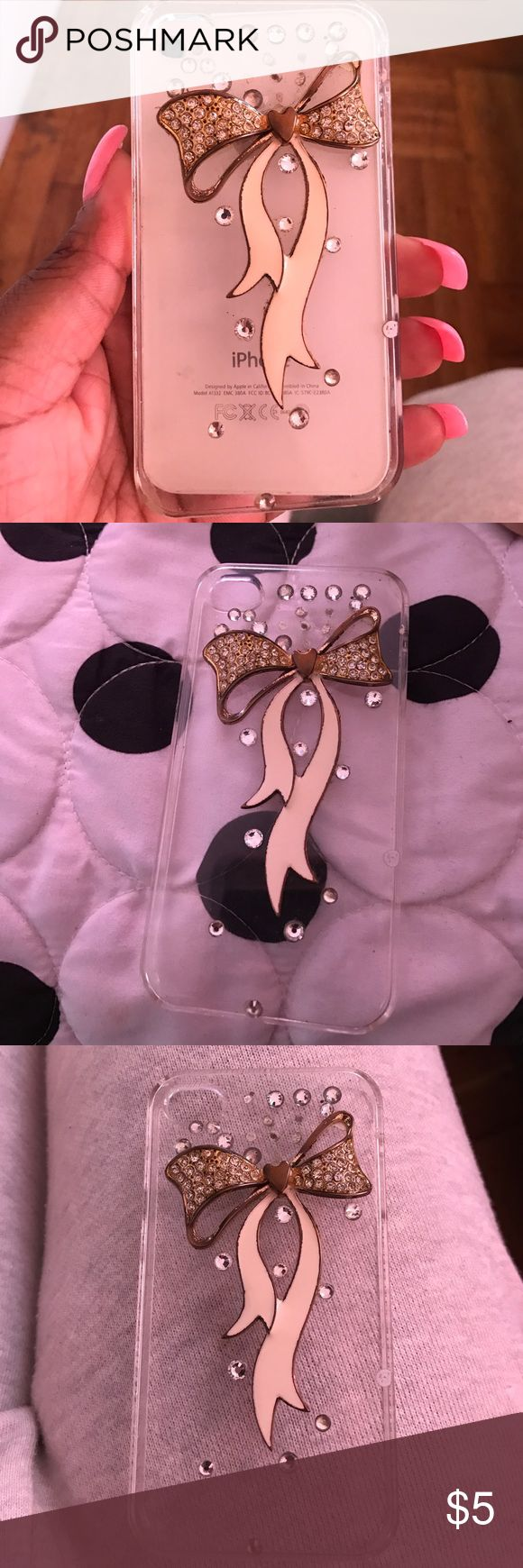 Used IPhone 4/4s Case Some Gems Have Fell Off. You Can Add Gems Yourself. It Has Been Used But I No Longer Use My IPhone So Dnt Wanna Just Throw The Cases Away. Accessories Phone Cases