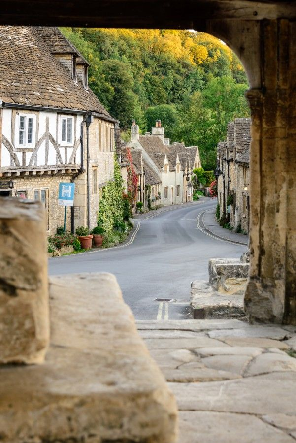 The village of Castle Combe in Wiltshire, England