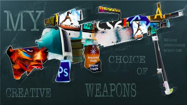 My creative weapons of choice. by Niels de Jong, via Behance