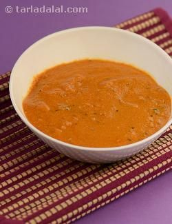 "Basic makhani gravy, the name says it all! the cream and butter used to prepare this gravy gives it the name ""makhani"". It is a reddish tomato-based gravy commonly used in north indian cuisines. The sour taste of tomatoes is balanced by the use of cream. Makhani gravies are an all-time favourite on the menus of almost all restaurants; the very famous paneer makhani, will tell you why! it can be combined with vegetables of your choice too, like i have done in the recipe of subz makhani."